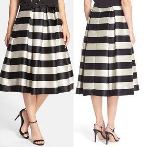 Eliza J Pleated Stripe Medi Skirt (10)